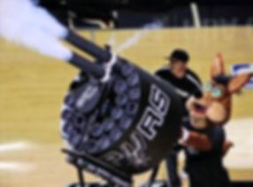 DOUBLE BARREL TSHIRT GATLING GUN Spurs Coyote t-shirt cannon