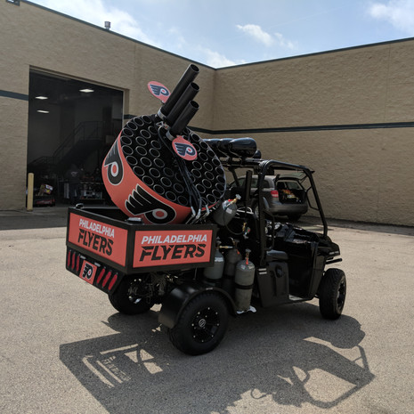 philadelphia flyers thsirt cannon vehicle gritty