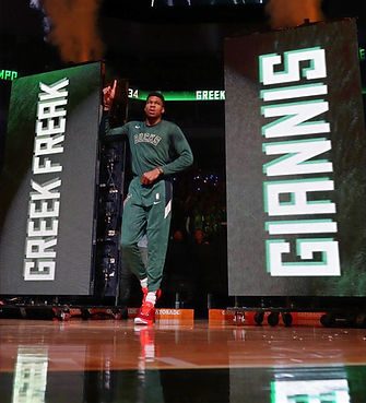 video wall Giannis Antetokounmpo intro milwaukee bucks