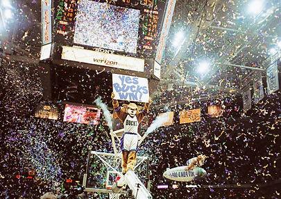 milwaukee bucks confetti blast playoff win
