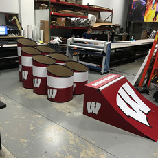wisconsin badgers giant skeeball skee ball game