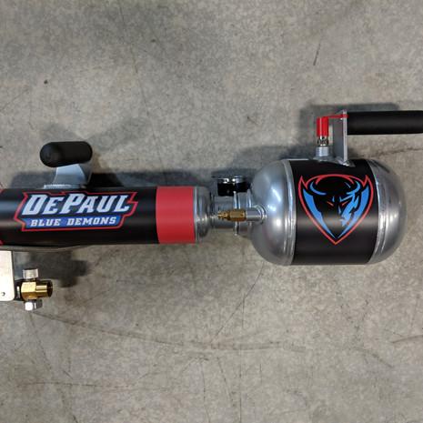 DePaul single shot t-shirt tshirt t shirt cannon gun