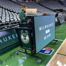 NBA Milwaukee Bucks Video DJ Booth dj shawna