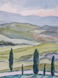 Collines siennoises printemps 1801