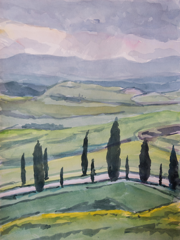 Collines siennoises printemps 1805