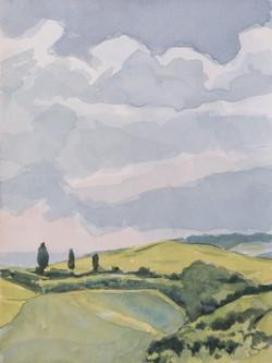 Collines siennoises printemps 1808