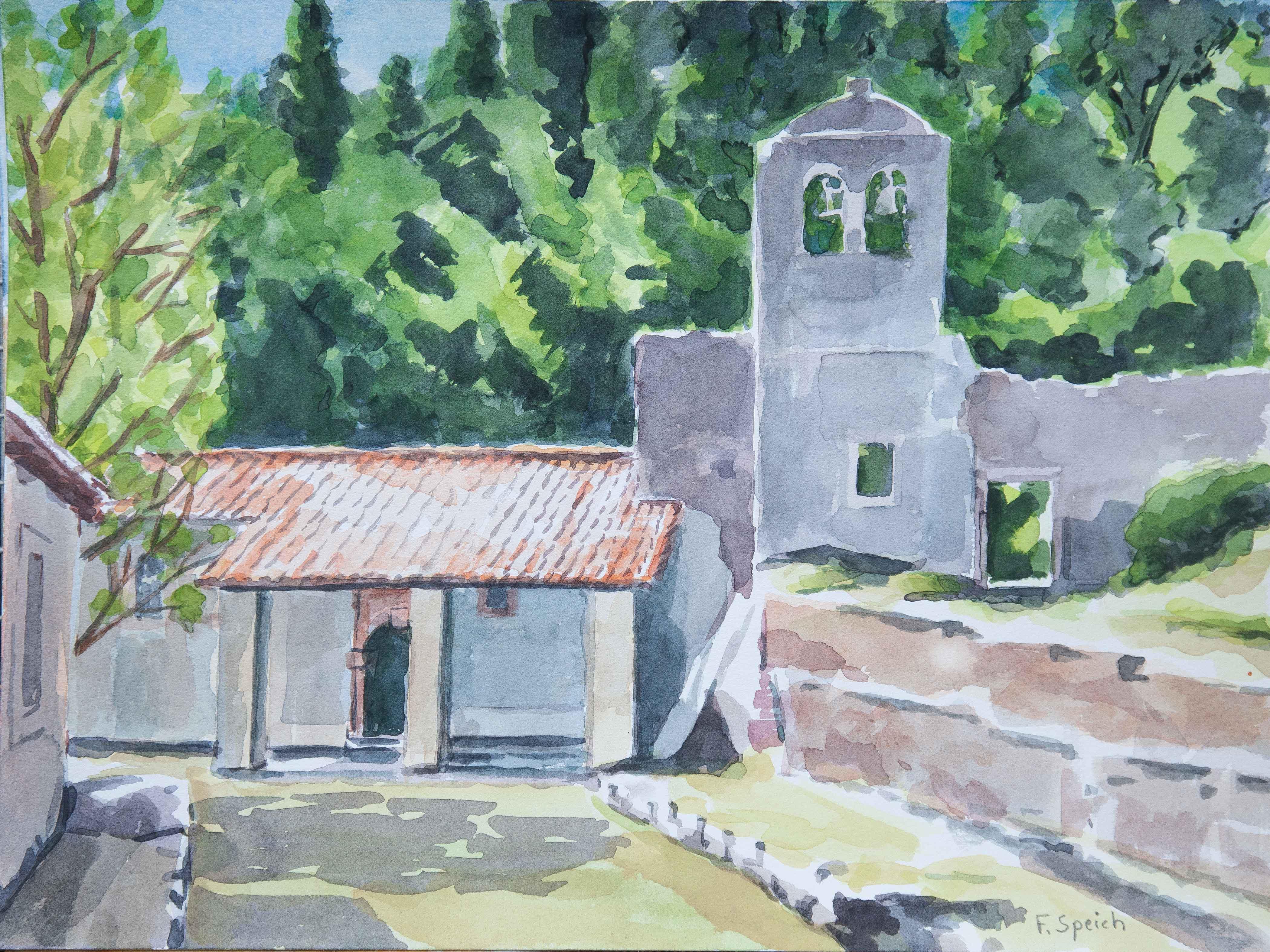Grèce-Corfou - Monastère Pantokrator