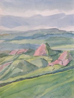 Collines siennoises printemps 1809