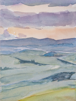 Collines siennoises printemps 1804