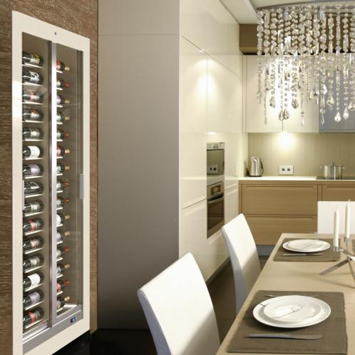 Built-in TECA TE-BM10 : 120 Bottles Wine Cellar with Wooden Front Frame