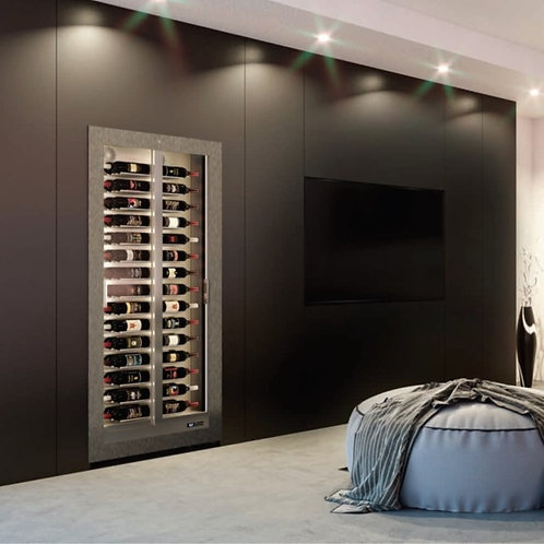 Slim Built-in TE-BH10: 60 Bottles Wine Cellar with Front Wooden Frame