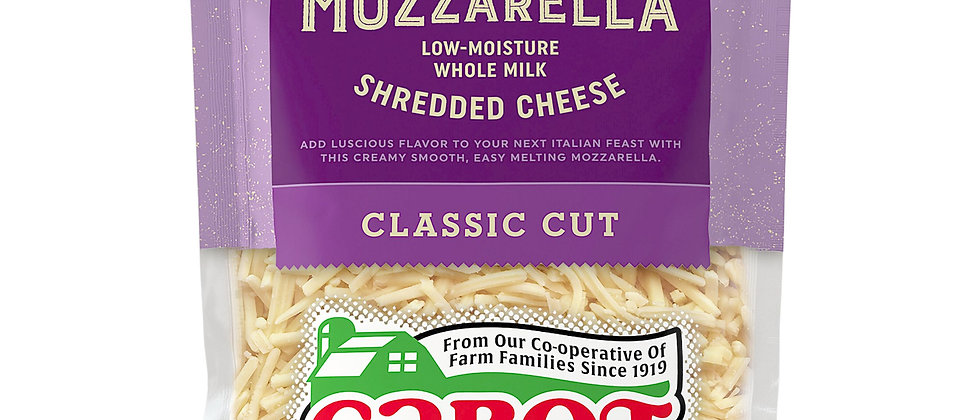 Mozzarella Whole Milk Shredded Cheese | CabotCreamery