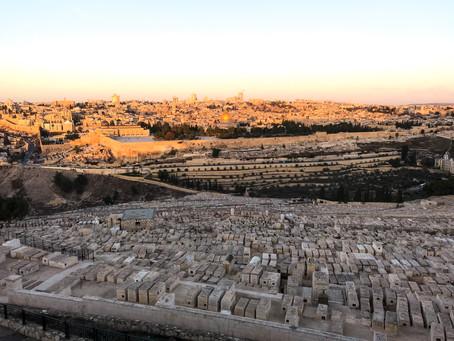 Wschód słońca nad Jerozolimą | Panorama Tel Awiw.
