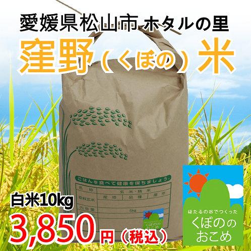 窪野米(玄米30kgまたは精米27kg)※15袋限定