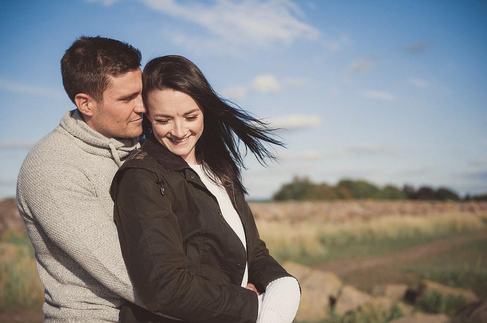 windswept couple