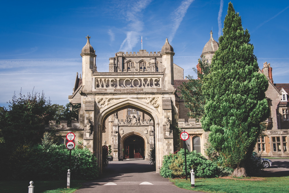 Welcome arch at Tortworth Court, Gloucestershire