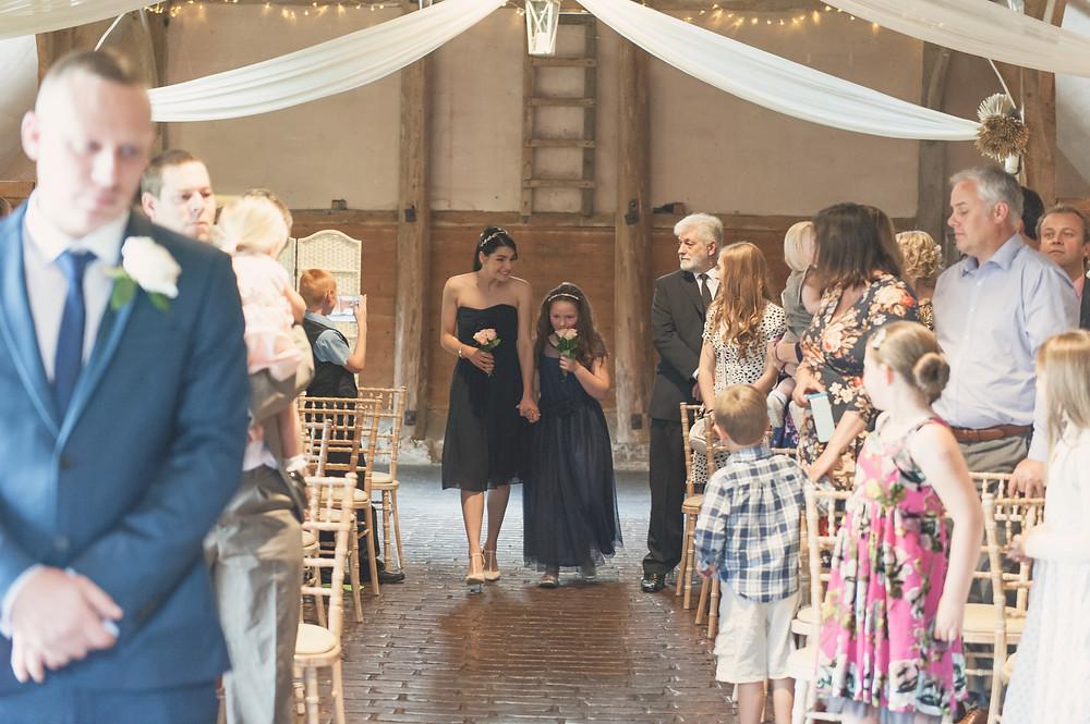 bridesmaid procession