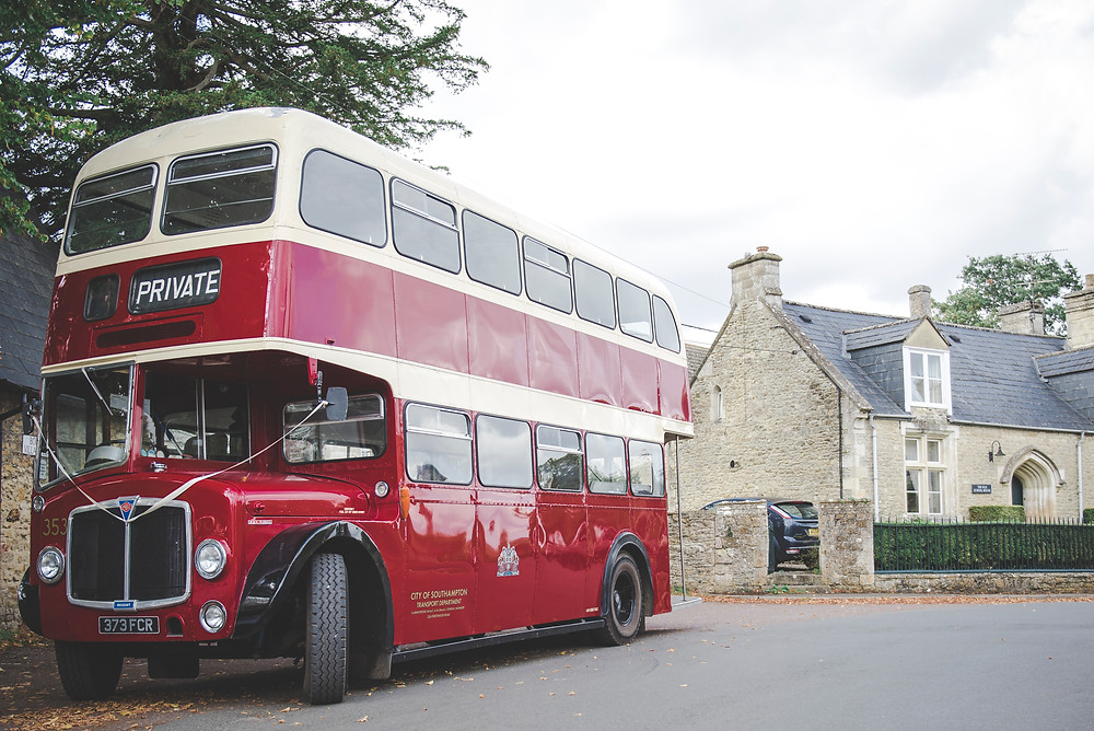 Vintage double decker bus
