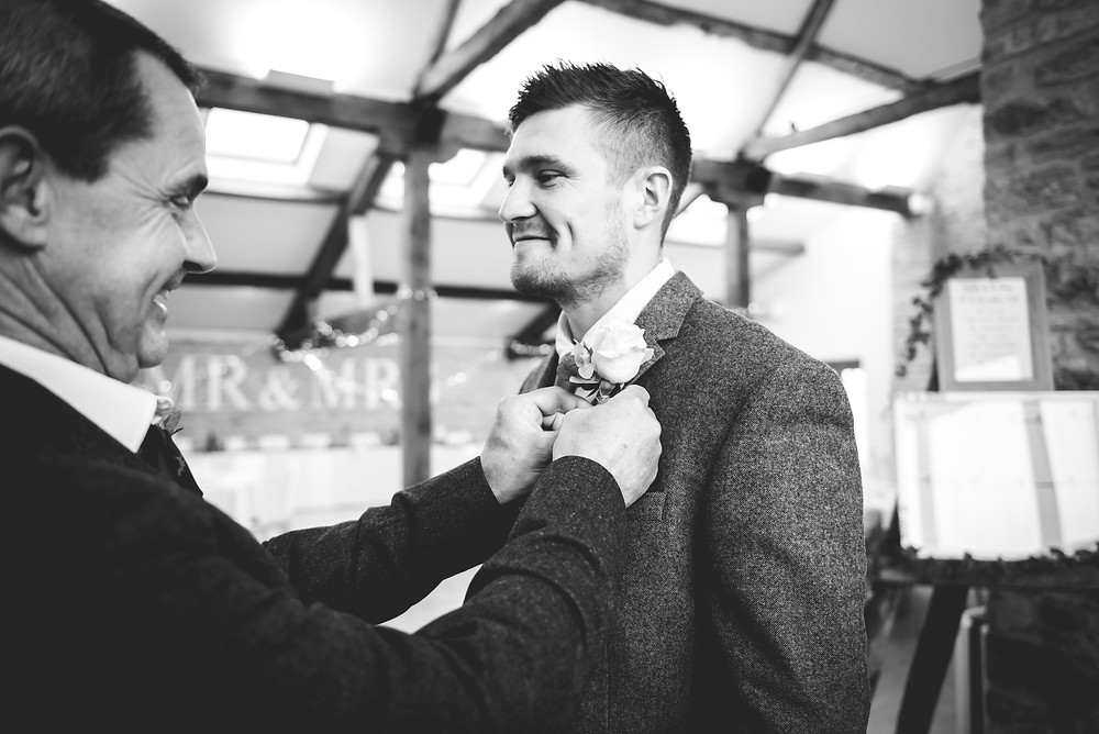 groom and dad buttonhole
