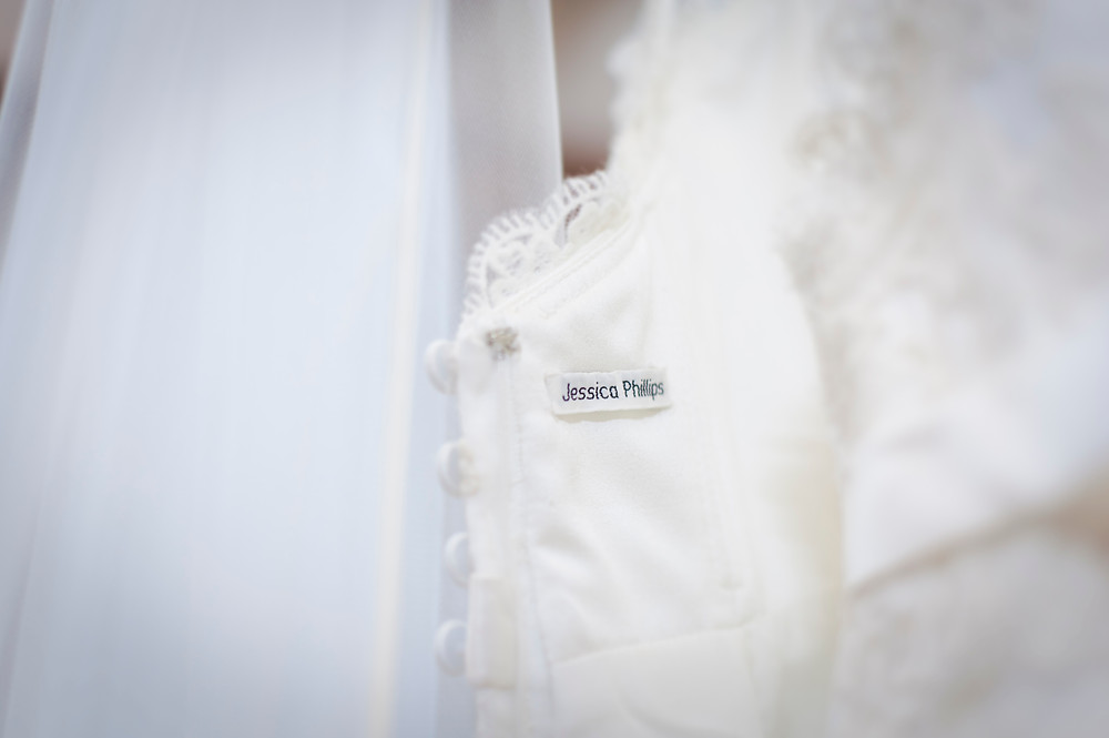 school name tag in wedding dress something old
