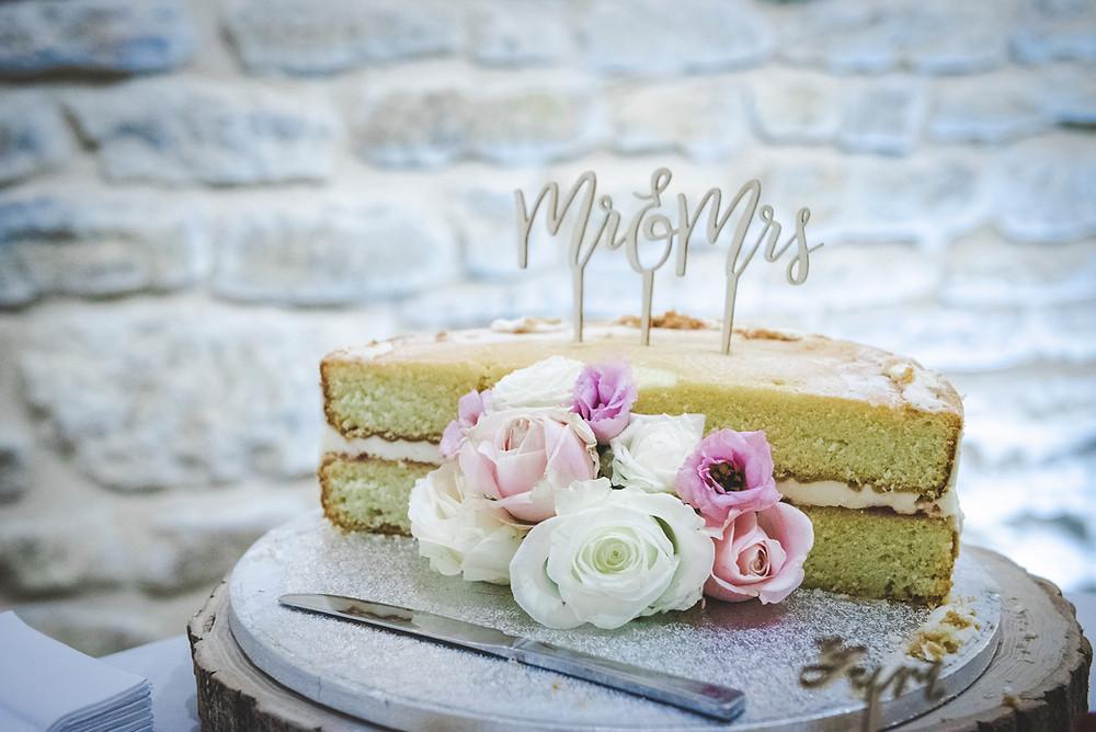 half eaten wedding cake