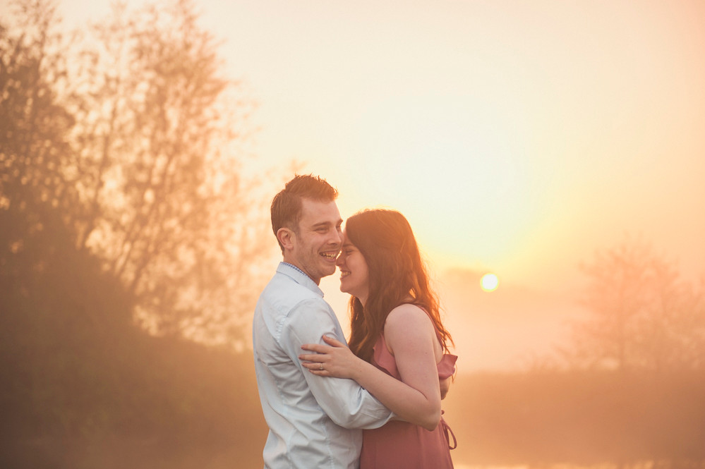 sunrise couple laughing