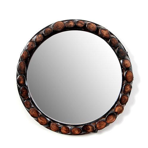 Disky wooden mirror