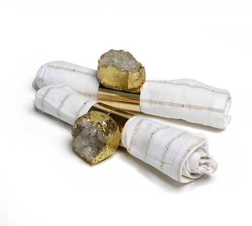 Agate Ornate napkin Rings S/2