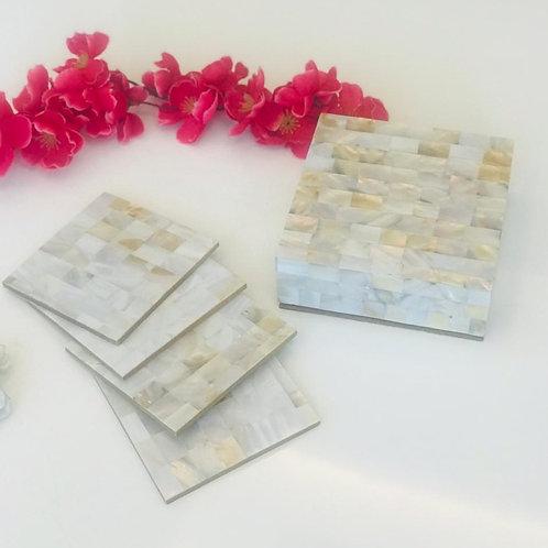 Jeweled coasters box S/4