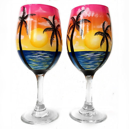 Sunrise Palm Trees