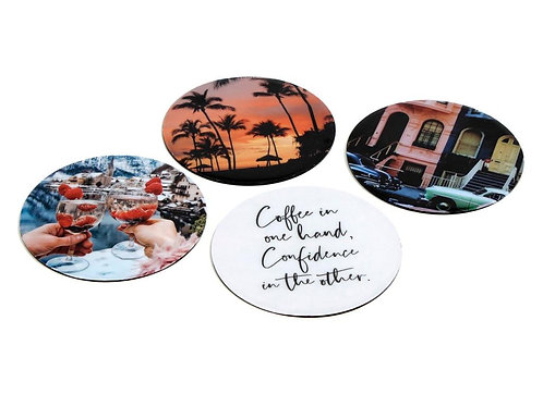 Holiday vibes coasters S/4