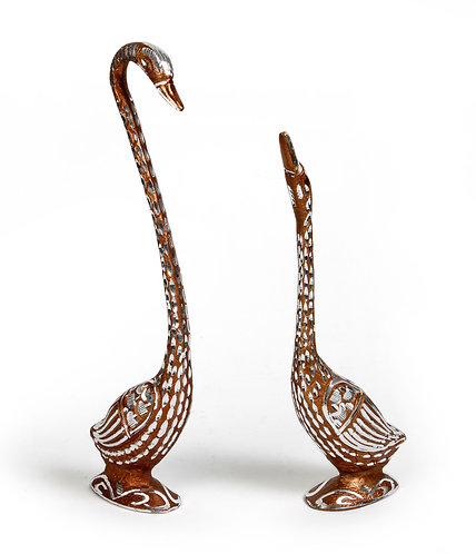 Metal with mirrors swan S/2