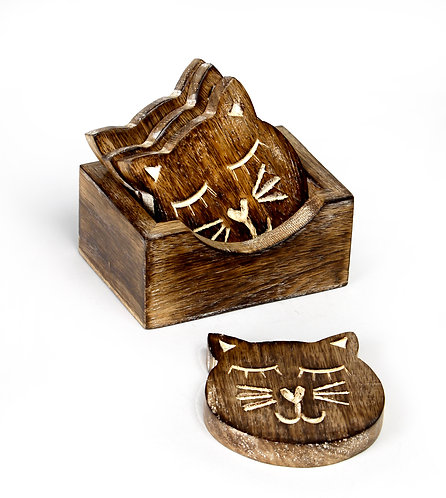 Catooden coasters S/4