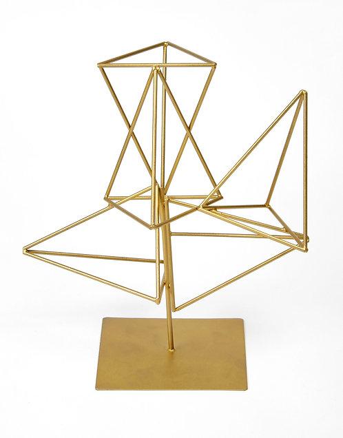 3D golden grid table top