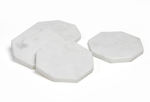 White marble coasters S/4