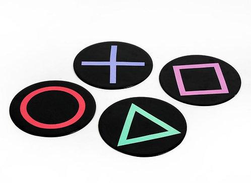 Geometric coasters S/4