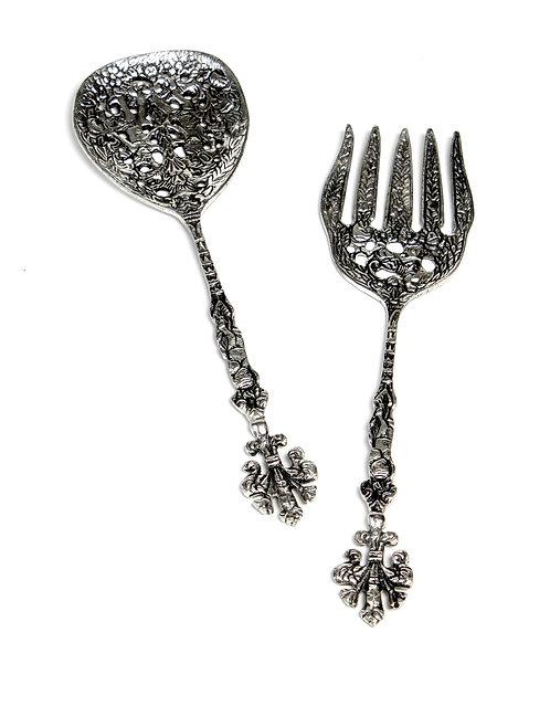 Antique silver servings S/2