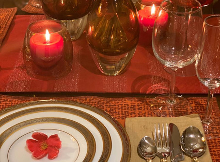 Time to create a beautiful season special tablescape.