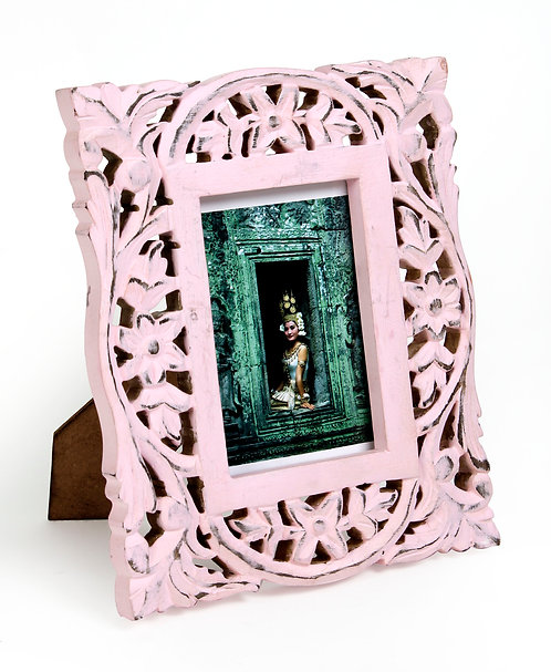 Rose Pink woodcarving