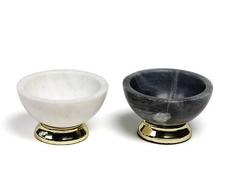 Coal & ivory bowls S/2
