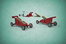 scratch design Clothespin car