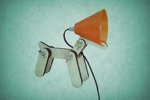 scratch design DOG LAMP