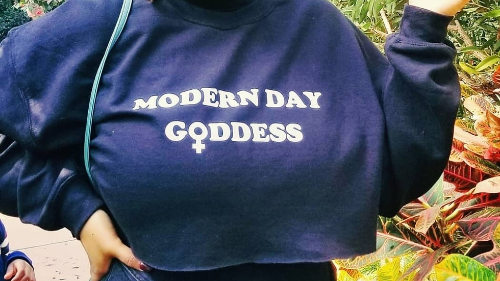 Modern Day Goddess Cropped Sweatshirt