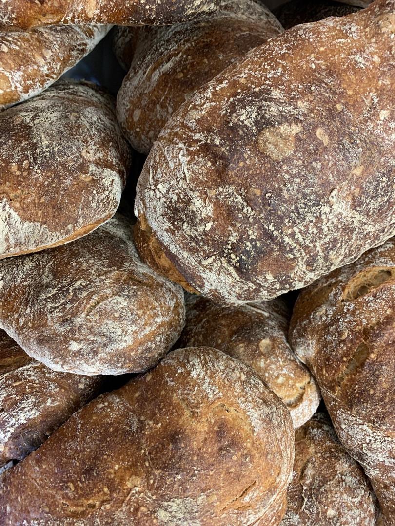 Surdejsbrød fra Pabst bakery med mel fra lammehave