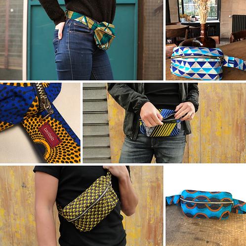 Belt bag, big size, gift card, african wax, accessory