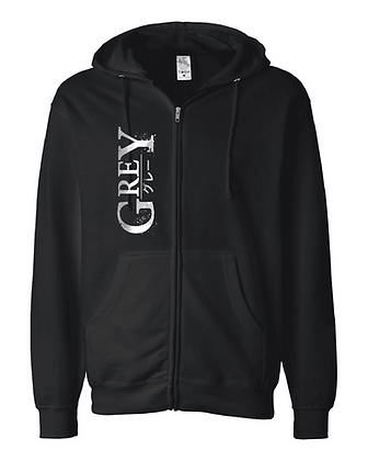 GREY Zip-Up Hoodie