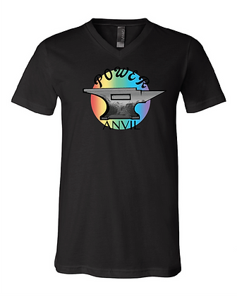 Rainbow Anvil V-Neck