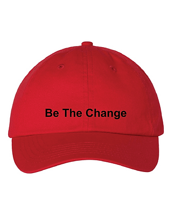 Be the Change Embroidered Dad Hat