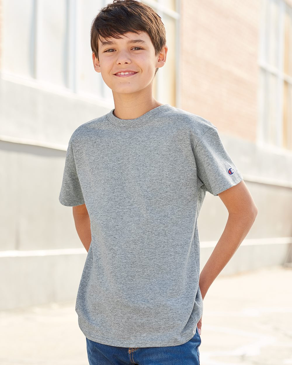 Champion - Youth Short Sleeve Tagless T-Shirt - T435