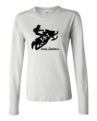 Lady Sledders Logo - Woman's Long Sleeve Shirt